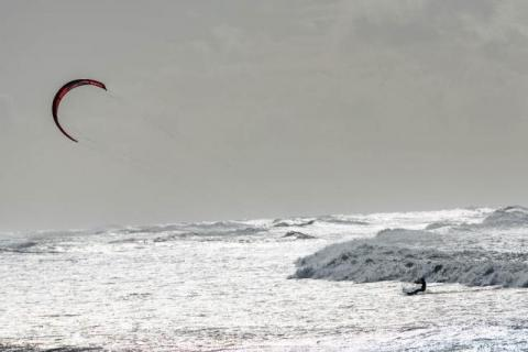 Kitesurfer in Barra