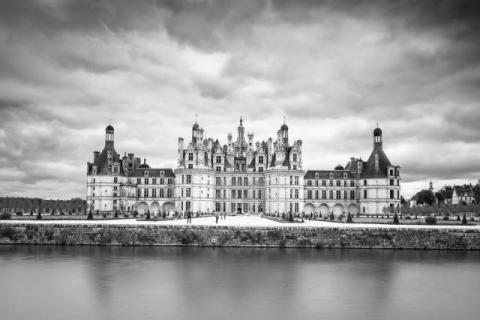 Chambord Castle in infrared
