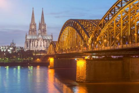 Cologne Cathedral at the blue hour