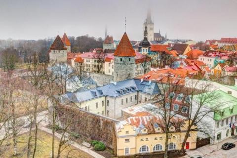 View of the old town of Tallinn