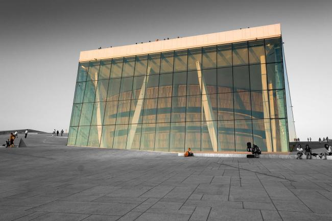 The Oslo Opera House as a Color-Key picture