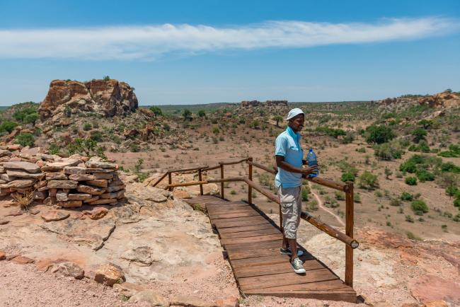 On the Mapungubwe hill