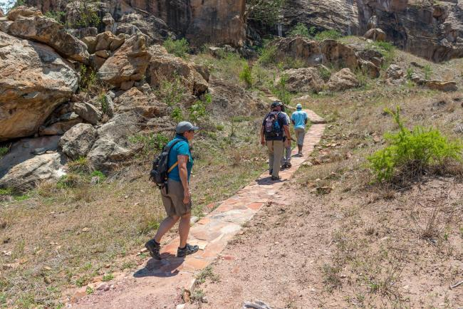 Ascent to Mapungubwe hill