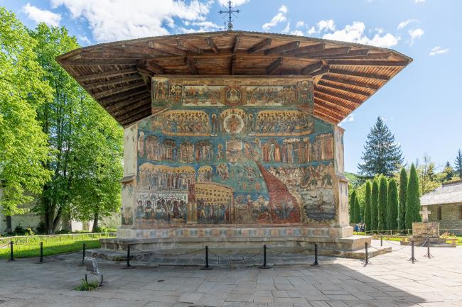 The representation of the Last Judgment in Voronet Monastery