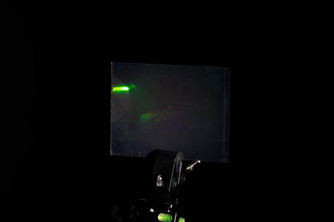 White light hologram of a model car from different viewing angles