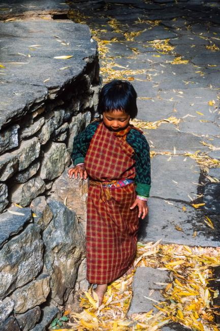 Child in the Rinpung Dzong