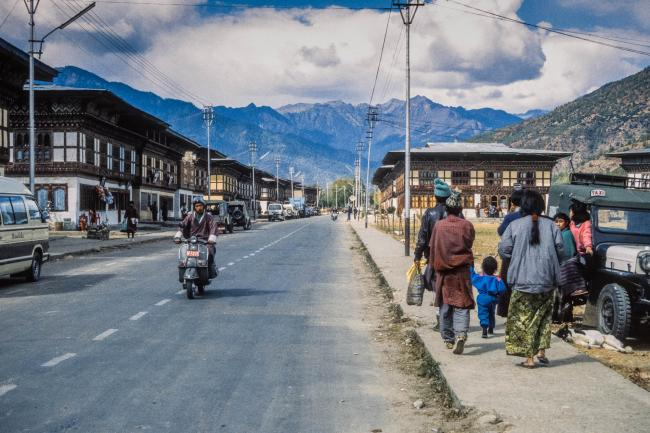 Main road in Paro