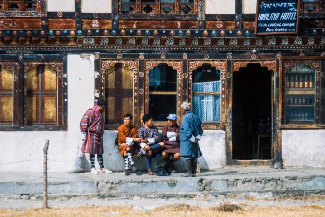 Bhutanese men in Paro