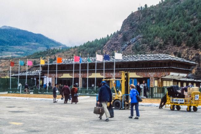 The Paro valley with airport