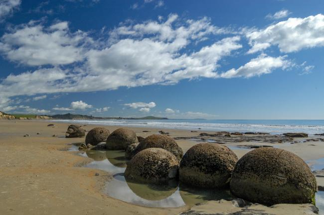 The Moeraki Boulders on Boulders Beach
