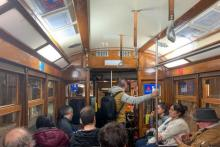 By tram through Lisbon